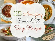 Pumpkin soup, stuffed green pepper soup, lasagna soup and so much more all made in the crockpot! I love this list and cannot wait to try them ALL this fall!!  Crock-Pot Soup Ideas
