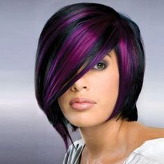 Synthetic Short Straight Wigs for Women Mix Black Purple Wig Heat Resistant Wig - Couleur Cheveux 01 Short Bob Wigs, Short Straight Hair, Wig Bob, Long Hair, Short Pixie, Bob Hairstyles, Straight Hairstyles, Black Hairstyles, Natural Hairstyles