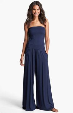 Three Dots Strapless Jersey Jumpsuit available at #Nordstrom $83.98