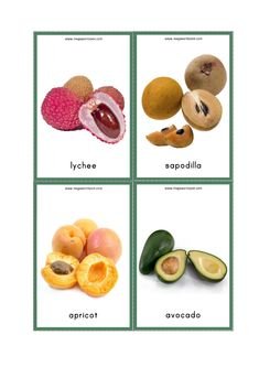 Free Printable Flash Cards For Kids (Preschool and Kindergarten) - Fruits Names With Pictures - MegaWorkbook Healthy Fruits, Fruits And Veggies, Vegetables, Free Printable Flash Cards, Free Printables, Fruits Name With Picture, Fruit Salad Making, Fruit Names, Cape Gooseberry