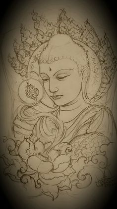 Satyagraha - Satyagraha You are in the right place about Satyagraha Tattoo Design And Style Galleries On The Net - Buddha Tattoo Design, Buddha Tattoos, Body Art Tattoos, Arm Tattoos, Sleeve Tattoos, Yoga Tattoos, Irezumi Tattoos, Buddha Drawing, Buddha Painting