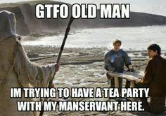 Merthur tea party - do not disturb!!