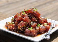 Textura, sabor y aroma deliciosos, todo eso ofrece el atún fresco, ingrediente que no sólo es muy rico, también es nutritivo y bajo en calorías. Ahi Tuna Salad, Tuna Ceviche, Fish Salad, Fish Recipes, Veggie Recipes, Seafood Recipes, Asian Recipes, Healthy Cooking, Healthy Eating