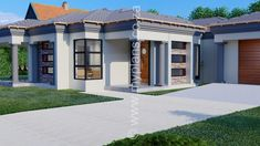3 Bedroom House Plan – My Building Plans South Africa One Floor House Plans, 6 Bedroom House Plans, Tuscan House Plans, House Plans Mansion, Free House Plans, House Roof, Floor Plans, Small Contemporary House Plans, Modern House Plans