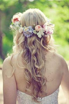 Simple hair arrangem