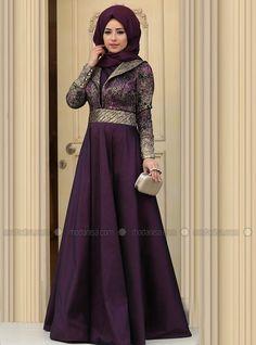 Kosem Evening Dress - Plum - Zehrace