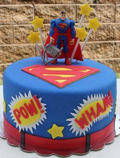 Superman Fondant Cake.