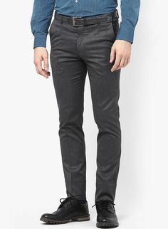 583e3be4304d1d Buy Arrow New York Grey Melange Solid Skinny Fit Formal Trouser Online -  4768047 - Jabong