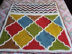 Trellis and Chevron by Baby Love Brand Patterns, using Lion Brand Landscapes.