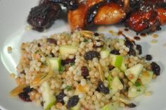 Couscous With Apples, Cranberries and Herbs