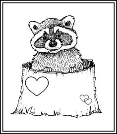 whistling raccoon coloring pages