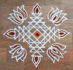 Rangoli Side Designs, Simple Rangoli Border Designs, Rangoli Simple, Rangoli Designs Latest, Free Hand Rangoli Design, Small Rangoli Design, Rangoli Designs Diwali, Rangoli Designs With Dots, Kolam Rangoli
