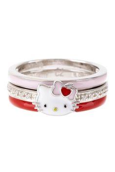 hello kitty ring set - Hello Kitty Wedding Ring