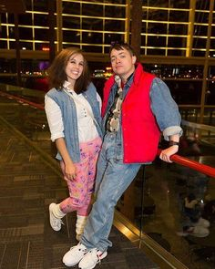 Pin for Later: 13 Couples Costumes Straight Out of the '80s Marty McFly and Jennifer Parker From Back to the Future