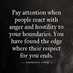 Pay attention when people react with anger and hostility to your boundaries by delia