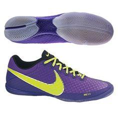 Nike FC247 Elastico Finale II Indoor Soccer Shoes (Purple/Green/Volt)