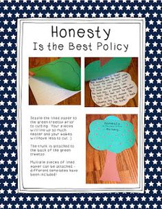 Honesty is the best policy -George Washington (Liar, Liar Pants on Fire- book connection)