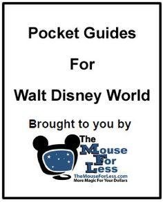 Mouse For Less Pocket Guides for Disney World