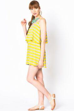 Striped Tier Dress