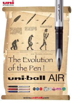 The evolution of the pen - we arrived to UniBall AIR.