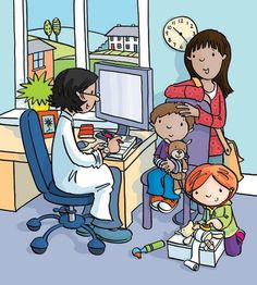Sue King Illustration - MANY of these pictures. Great for speech prompts Social Skills Activities, Library Activities, Language Activities, Writing Pictures, Picture Writing Prompts, Drawing School, Drawing For Kids, Illustration Agency, Picture Composition