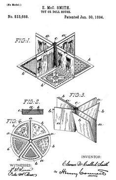 §§§ . The New Folding Doll House, McLoughlin Bros. ca.1894