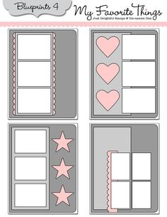 card sketches using Die-namics die Blueprints 4