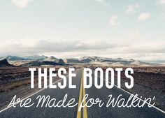 Carte postale These boots are made for walkin' par VoyagesADeux