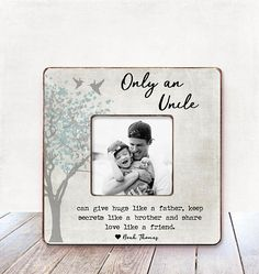 Uncle Gift Uncle Birthday Gift Uncle Picture Frame Gift Uncle Personalized Picture Frame Uncle gift from Niece Uncle Gift from Nephew Uncle Uncle Birthday Gifts, Uncle Gifts, Birthday Cards, Christmas Gifts For Uncles, Christmas Fun, Personalized Picture Frames, Personalized Shirts, Niece Tattoo, Quotes Girlfriend