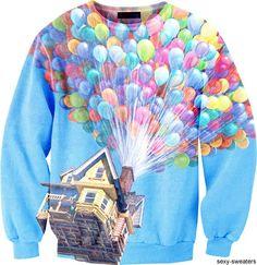 """Disney """"Up"""" Sweatshirt OMG!!!!!!!!! its an up sweatshirt!!!!!!!!!"""