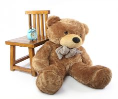 Giant Teddy  - Sunny Cuddles Soft and Huggable Mocha Brown Teddy Bear 48in, $79.99 (http://www.giantteddy.com/sunny-cuddles-soft-and-huggable-mocha-brown-teddy-bear-48in/)