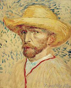 Vincent van Gogh - Selbstbildnis mit Strohhut und Malerkittel