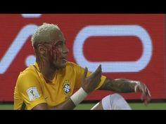 Agresión a Neymar Brasil vs Bolivia 5-0 Eliminatorias 2016 HD