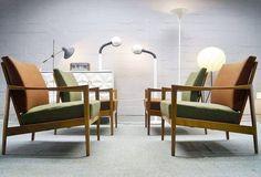 """set of 4 scandic style easy chairs, germany #50s #easychairs #sessel #fotel #design #scandinaviandesign #danskdesign #interiordesign #interior #livingroom…"""