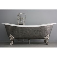 The Bridlington Vintage Designer Burnished Clawfoot Cast Iron Double Slipper Tub Package from Penhaglion Claw Bathtub, Clawfoot Tubs, Vintage Bathtub, Cast Iron Bathtub, Modern Bathtub, Bathroom Furniture, Bathroom Ideas, Bathtub Ideas, Bathroom Sinks