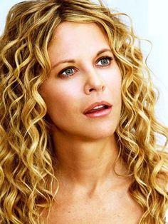 big curly hairstyles   Meg Ryan has beautiful medium length curly hair
