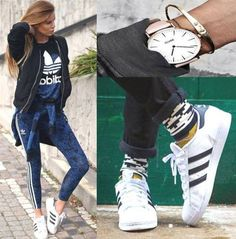 how to rock adidas shoes