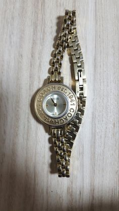 Check out this item in my Etsy shop https://www.etsy.com/listing/480188578/coach-1941-est-vintage-womens-watch-good
