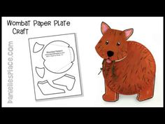 (5) Wombat Paper Plate Craft for Children - YouTube