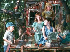 *Childhood in Pictures - Bob Byerly http://www.byerleyart.com/