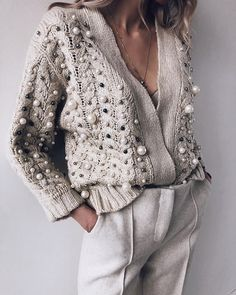 Latest fashion trends in women's Sweaters. Shop online for fashionable ladies' Sweaters at Floryday - your favourite high street store. Look Fashion, Winter Fashion, Fashion Outfits, Womens Fashion, Fashion Trends, Fashion Shoes, Beach Fashion, Classy Fashion, Knit Fashion
