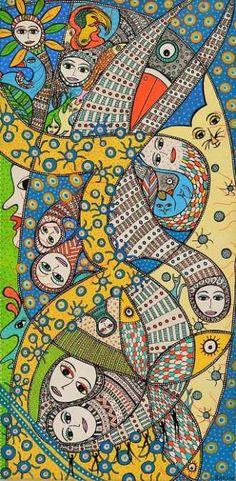 Kunstsamlingen | Artist: Barbara Kaad Ostenfeld | Title: Ka-te Passe? | Height: 80cm,  Width: 40cm | Find it at kunstsamlingen.dk