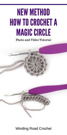 Crochet Tip: Learn a new way to make a crochet magic circle. Many have told my way is much easier. # magic circle crochet tutorial easy Magic Circle Tutorial: A New Method - Winding Road Crochet Crochet Stitches For Beginners, Crochet Stitches Patterns, Crochet Basics, Crochet Projects For Beginners, Knitting Beginners, Crochet Magic Circle, Magic Ring Crochet, Crochet Circle Pattern, Crochet Crafts