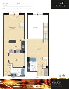 One bedroom, one bath w/ den loft, 1,028 square feet.