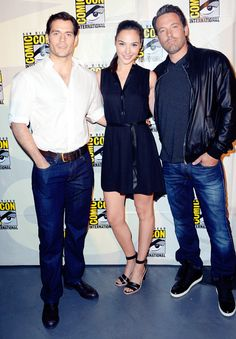 Henry Cavill, Ben Affleck and Gal Gadot  [Superman v Batman: Dawn of Justice cast attend  San Diego Comic-Con 2014 via henrycavill.org [x]