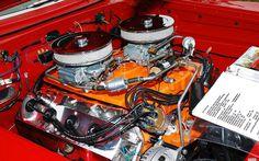 Pro Street Mopars | 1964 Plymouth Savoy drag car - red - 472 cu. in. HEMI engine