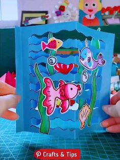 Shark Pop Up Card MyKingList com is part of Paper crafts - Paper Crafts For Kids, Diy Home Crafts, Diy Arts And Crafts, Creative Crafts, Preschool Crafts, Diy For Kids, Fun Crafts, Art N Craft, Summer Crafts