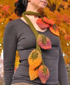 Forever Autumn  ooak designer leafy lariat / by EveldasNeverland, $92.00
