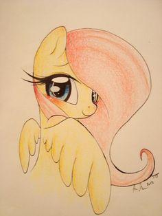 Fluttershy Drawing Sketch (from toxictygir on Ebay)