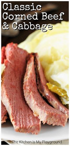 Classic Corned Beef & Cabbage ~ Slow-simmer corned beef, add some. Best Picture For corned beef an Corn Beef And Cabbage, Cooked Cabbage Recipes, Cabbage Stew, Fun Easy Recipes, Special Recipes, Healthy Eating Recipes, Cooking Recipes, Cooking Beef, Corned Beef